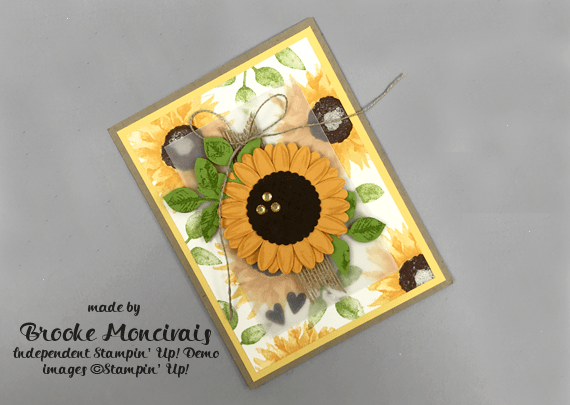 Stampin' Up! Painted Harvest Sunflower card by (Brooke) a member of Creative Royalty for Queen B Creations