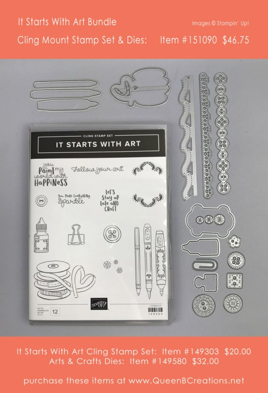 Stampin' Up! It starts with art bundle purchase at www.QueenBCreations.net