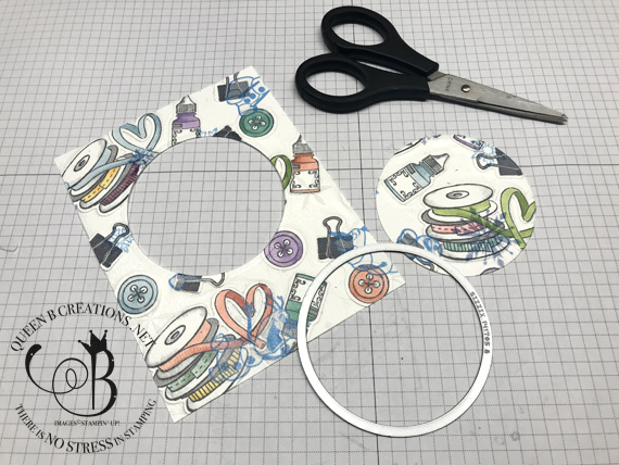 Stampin' Up! It Starts With Art floating frame technique tutorial instructions by Lisa Ann Bernard of Queen B Creations