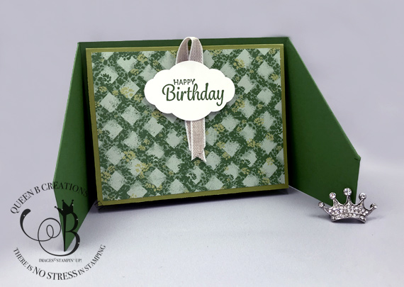 Stampin' Up! Gatefold Happy Birthday Card by Lisa Ann Bernard of Queen B Creations