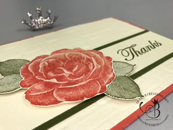 Stampin' Up! Healing Hugs Thank You Card by Lisa Ann Bernard of Queen B Creations