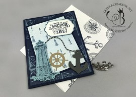 Sailing Home Nautical Lighthouse Card