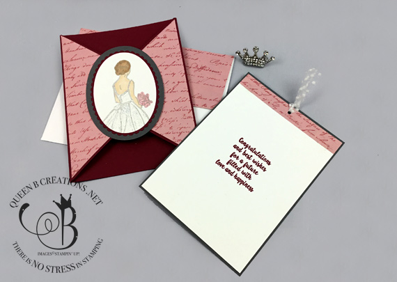 Stampin' Up! Wonderful Moments Wedding Pocket Card by Lisa Ann Bernard of Queen B Creations