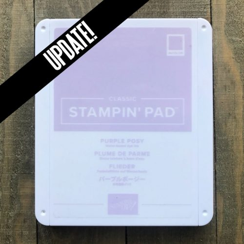 the 2019-2021 Stampin' Up! In-Color Purple Posey is now in stock!  purchase yours at www.QueenBCreations.net