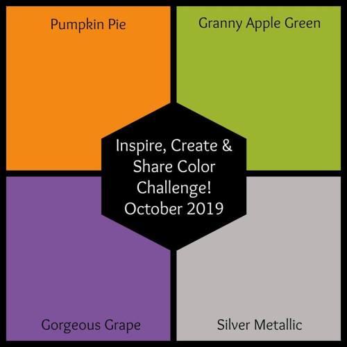 Inspire Create Share Color Challenge Blog Hop October 2019