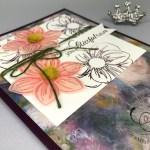 stampin up foral essence perennial essence DSP handmade card by Lisa Ann Bernard of Queen B Creations
