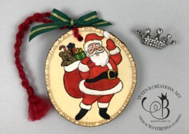 Holly Jolly Christmas Wood Ornament