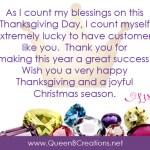 Happy Thanksgiving 2019 from Lisa Ann Bernard of Queen B Creations
