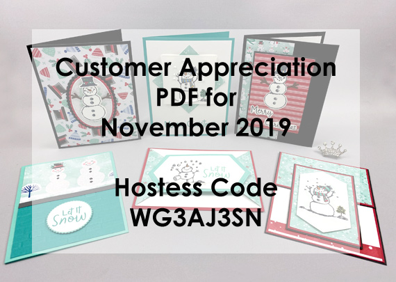 Snowman Season Customer Appreciation PDF from Lisa Ann Bernard of Queen B Creations for November 2019