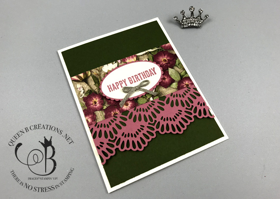 Stampin' Up! Pressed Petals 6x6 One Sheet Wonder birthday cards by Lisa Ann Bernard of Queen B Creations