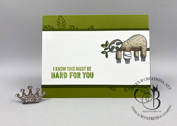 Stampin' Up! Back on Your Feet You Got This support card made by Lisa Ann Bernard of Queen B Creations