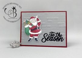 Holly Jolly Santa Christmas Card
