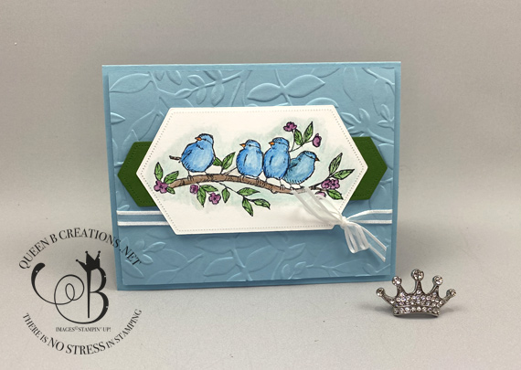 Stampin' Up! Free As A Bird Watercolor Pencils Birthday Card by Lisa Ann Bernard of Queen B Creations