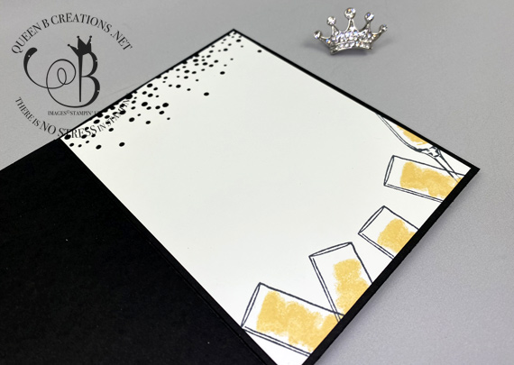 Stampin' Up! Sip Sip Hooray New Years or Congratulations cards by Lisa Ann Bernard of Queen B Creations