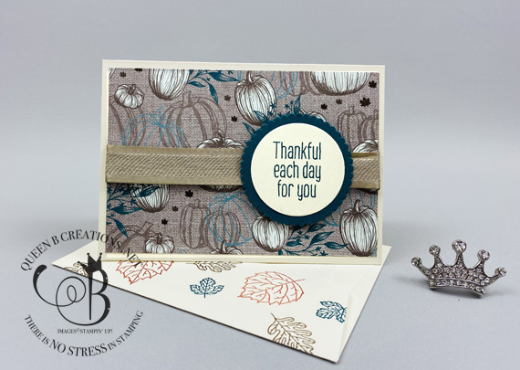 Stampin' Up! Stampin' Bunco handmade notecard make and takes made using the To Every Season bundle made by Lisa Ann Bernard of Queen B Creations