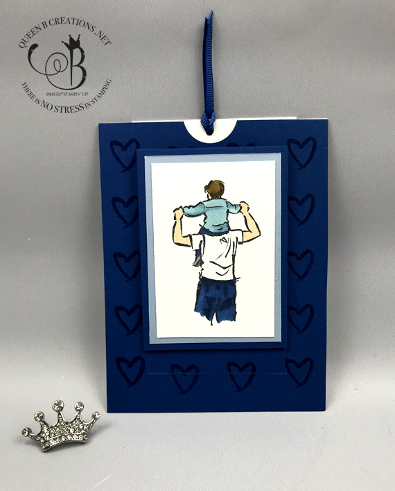 Stampin' Up! A Good Man Pull Tab Father's Day Card by Lisa Ann Bernard of Queen B Creations