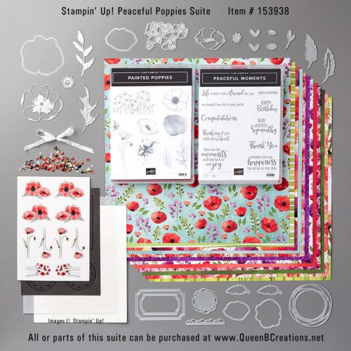Stampin' Up! Peaceful Poppies Suite - purchase at www.QueenBCreations.net