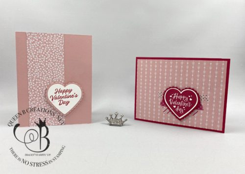 Stampin' Up! Heartfelt Be Mine Grade School Valentines made by Lisa Ann Bernard of Queen B Creations