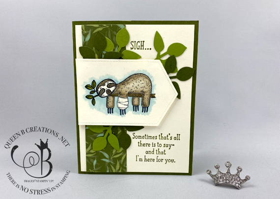 Stampin' Up! Back On Your Feet sloth support card by Lisa Ann Bernard of Queen B Creations