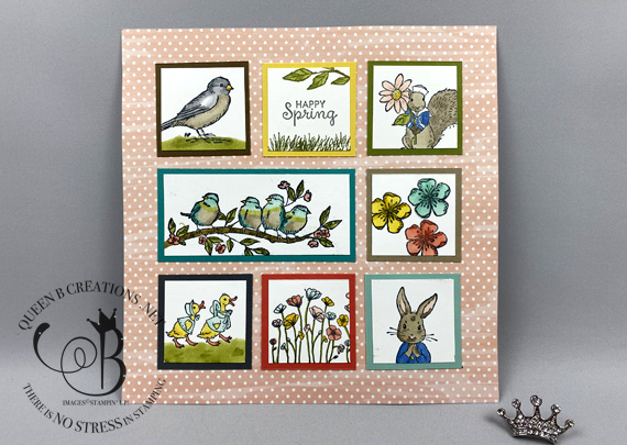 stampin up free as a bird fable friends framed sampler by Lisa Ann Bernard of Queen B Creations
