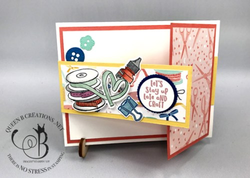 Stampin' Up! It Starts With Art fun fold handmade card by Lisa Ann Bernard of Queen B Creations