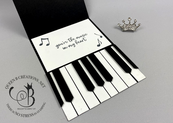 Stampin' Up! Music From the Heart piano easel card by Lisa Ann Bernard of Queen B Creations