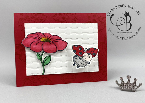 Stampin' Up! Little Ladybug Sale-A-Bration 2020 wobble card colored with Stampin' Blends by Lisa Ann Bernard of Queen B Creations