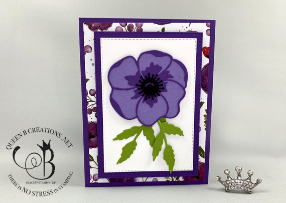 Stampin' Up! Painted Poppies Peaceful Poppies Dies Peaceful Moments handmade card by Lisa Ann Bernard of Queen B Creations
