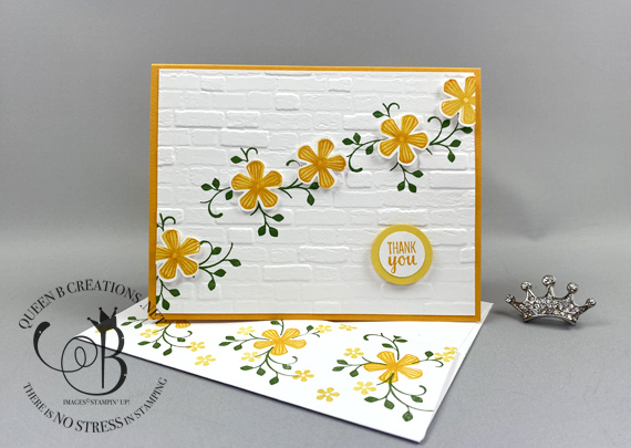 Stampin' Up! Thoughtful Blooms Thank You card saleabration 2020 by Lisa Ann Bernard of Queen B Creations
