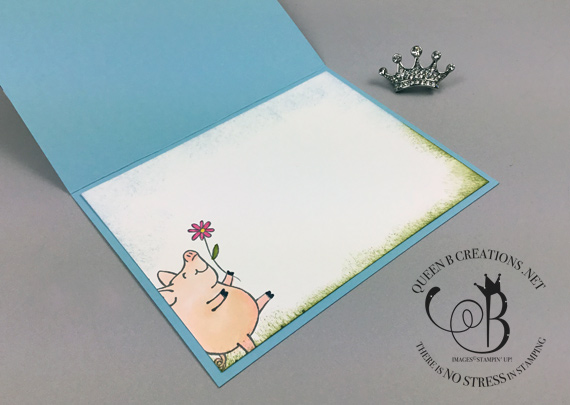 Stampin' Up! This Little Piggy stayed home face mask quarantine card by Lisa Ann Bernard of Queen B Creations