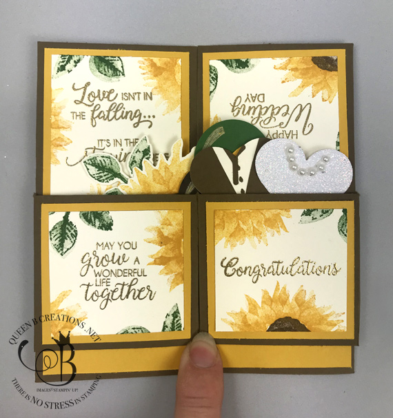 Stampin' Up! Painted Harvest Card in a box wedding card by Lisa Ann Bernard of Queen B Creations