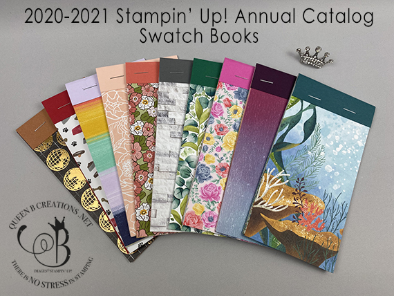 2020-2021 Stampin' Up! Annual Catalog Swatch Books By Lisa Ann Bernard of Queen B Creations