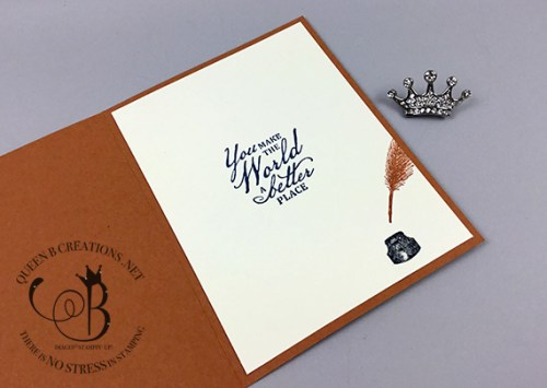 Stampin' Up! Beautiful World of Good masculine card by Lisa Ann Bernard of Queen B Creations