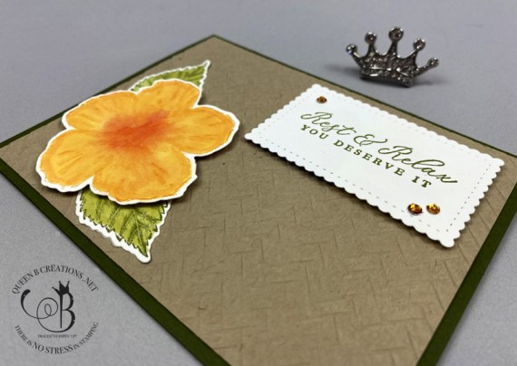 Stampin' Up! Timeless Tropical Coastal Weave greeting card by Lisa Ann Bernard of Queen B Creations