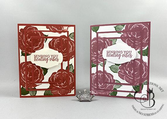Stampin' Up! Healing Hugs Triple Stamp Technique by Lisa Ann Bernard of Queen B Creations
