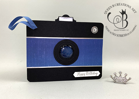 Stampin' Up! Special Someone punch art camera birthday card by Lisa Ann Bernard of Queen B Creations