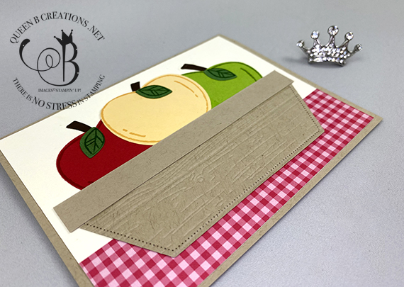 Stampin' Up! Harvest Hellos Basket of Apples card by Lisa Ann Bernard of Queen B Creations