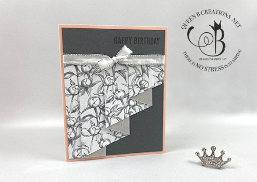Stampin Up Peony Garden Drapery Fold Cards by Lisa Ann Bernard of Queen B Creations