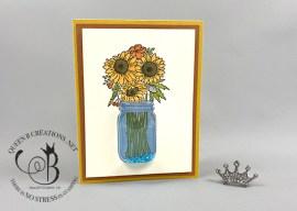 Jar of Flowers Shaker Card