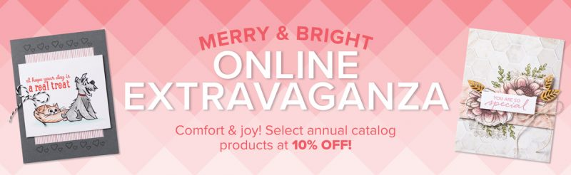 Stampin' Up! Merry & Bright Online Extravaganza November 24th 2020. Shop with Lisa Ann Bernard of Queen B Creations.