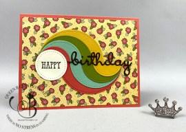 Circle Swirl Birthday Card