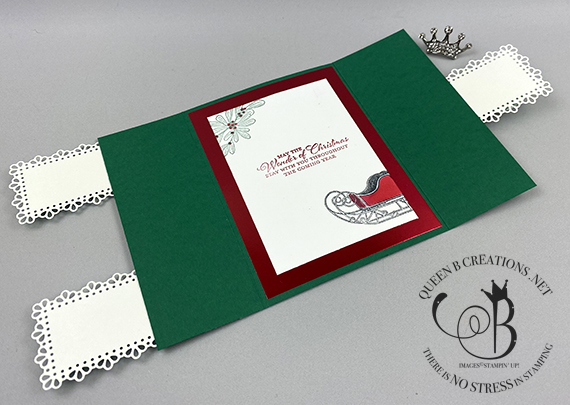 Stampin' Up! Wishes & Wonder interlocking gatefold card by Lisa Ann Bernard of Queen B Creations