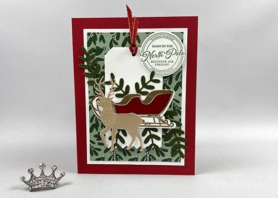 Stampin' Up! Wishes & Wonder Christmas Tag card by Lisa Ann Bernard of Queen B Creations