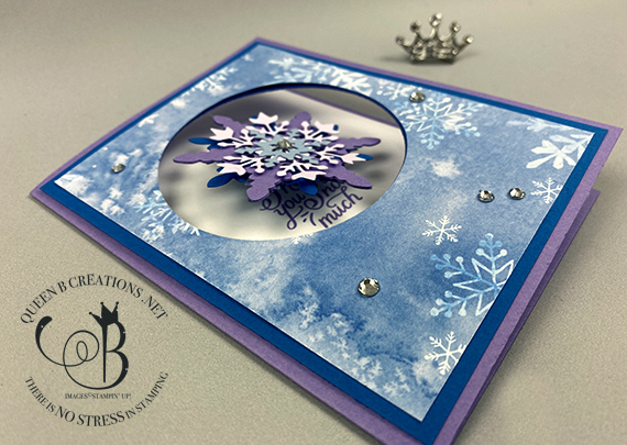 Stampin' Up! Snowflake Wishes Spinner Card by Lisa Ann Bernard of Queen B Creations