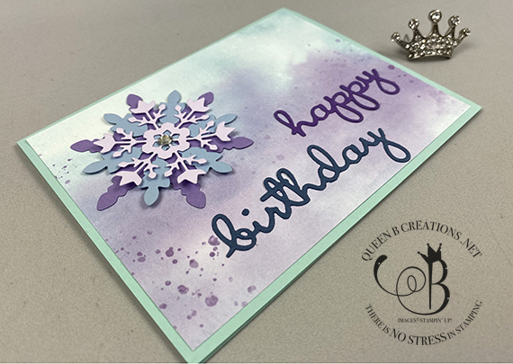 Stampin' Up! Well Written birthday card by Lisa Ann Bernard of Queen B Creations