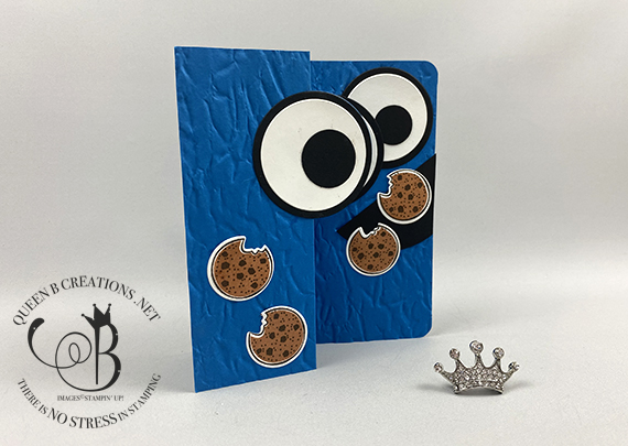 Stampin Up circle swing card cookie monster card by Lisa Ann Bernard of Queen B Creations