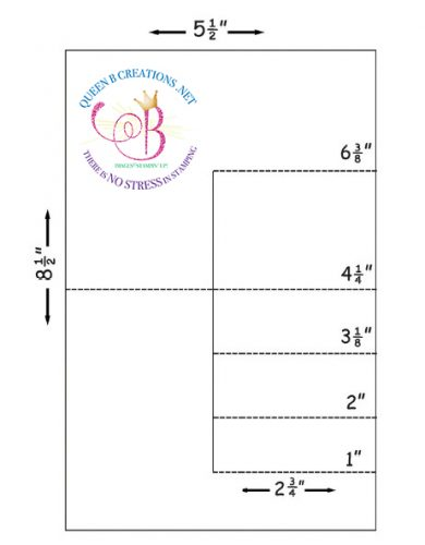 Side Step Card Template by Lisa Ann Bernard Independent Stampin' Up! Demo dba Queen B Creations