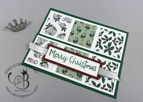 Stampin' Up! 'Tis The Season barn door fun fold card by Lisa Ann Bernard angle