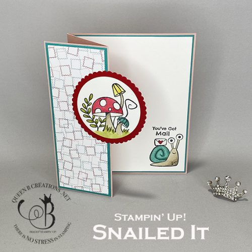 Stampin' Up! Snailed It Z fold Snail Mail Card by Lisa Ann Bernard of Queen B Creations