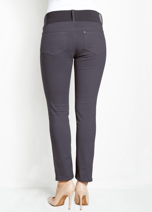 Skinny Maternity Ankle Jeans In Cement Grey Maternal